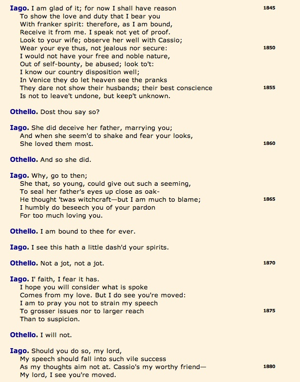 Open Source Shakespeare, Othello 3.1