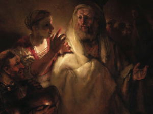 Rembrandt, The Denial of St. Peter (1660), Rijksmuseum